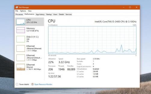 Windows 10 2004添加了GPU溫度指...