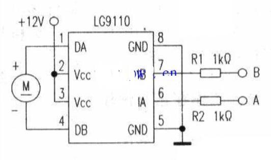 LG9110构成的直流电机驱动电路