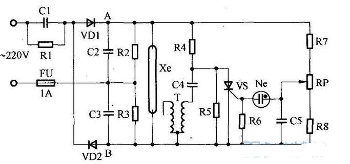 频闪仪电路原理图