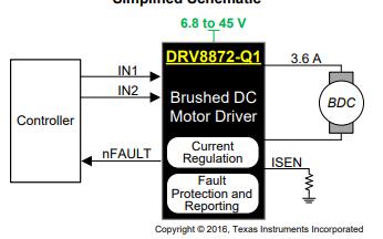 DRV8872-Q1直流电机驱动器数据手册免费下载