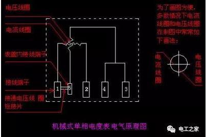 单相有功电度表的接线方法图解
