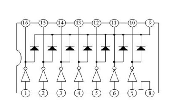 ULN2003A的引脚图及功能详细说明