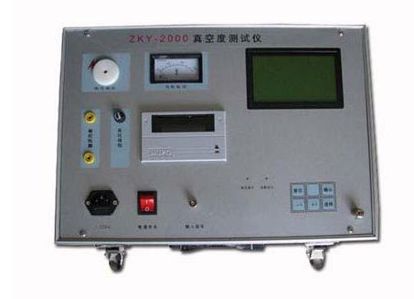 ZKY-2000真空度测试仪的操作步骤