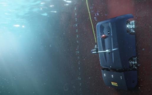 適用于水下船體的爬行機器人,可幫助清掃附著物
