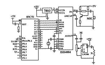 ISD4004语音芯片的工作原理和在智能控制系统中的应用说明