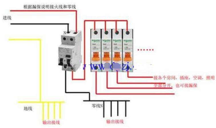 空开和漏保安装顺序_空开和漏保接线图