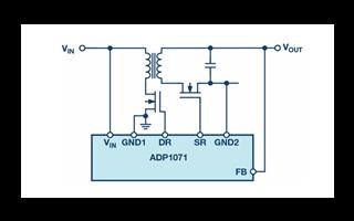 无需光耦合器的反激式转换器,可实现紧凑型电源设计
