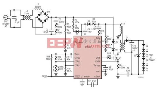 離線式LED驅動器電路設計