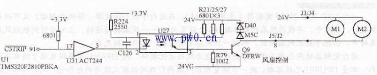 变频器温度检测电路故障检修