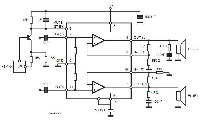 tda7296典型电路图