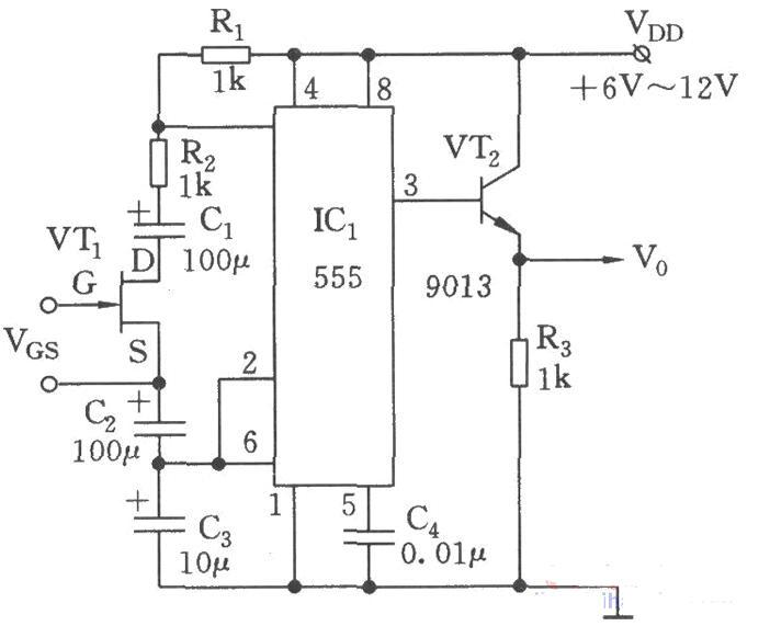 基于555组成的压控振荡器电路