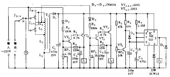 全自动交流稳压器电路图