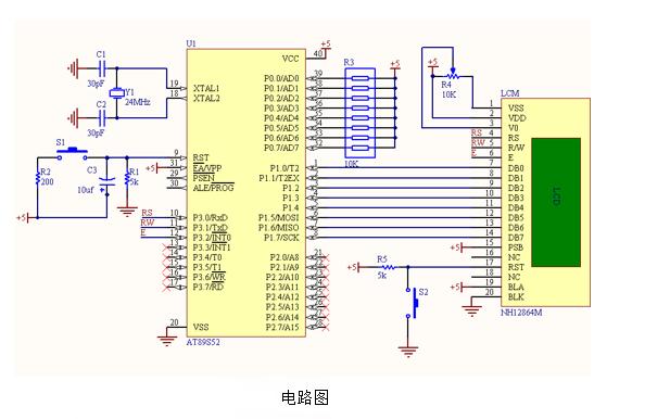 C51液晶显示模块的详细资料说明
