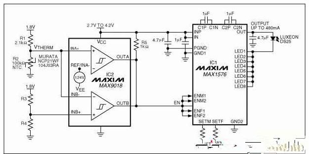 大功率白光LED模組的電路驅動方案
