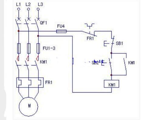 热继电器电动机进行维护的电路
