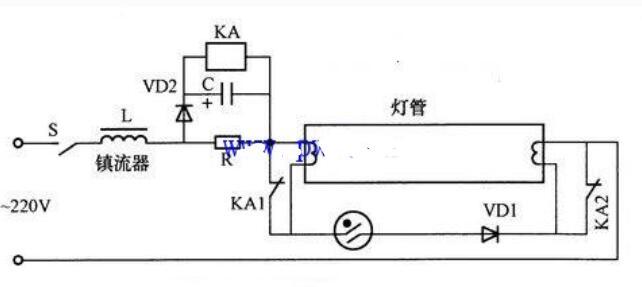 日光灯管的寿数延伸电路图