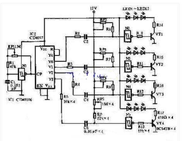 LED灯电路工作原理图