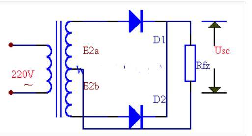 全波整流电路原理图及全波整流电路波形图
