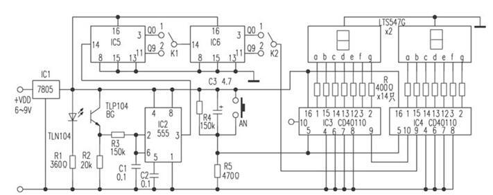 电子计数器电路图解析