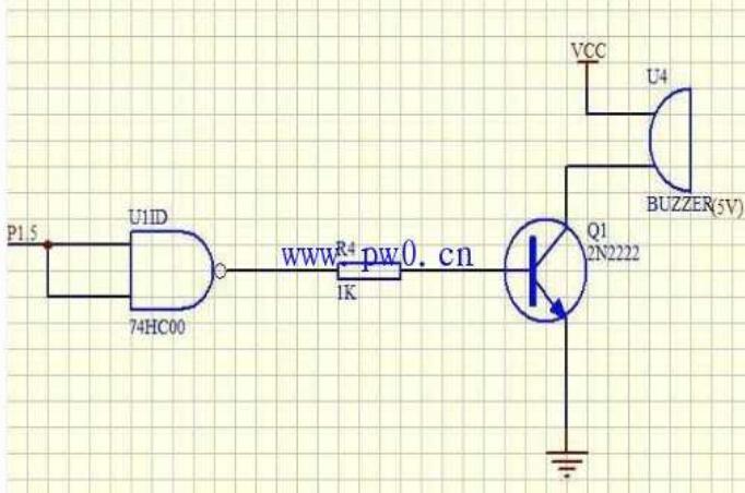 蜂鸣报警器电路原理图