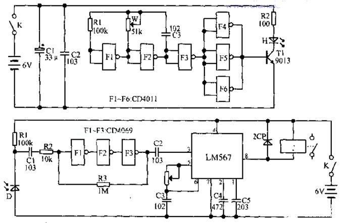 单通道红外线遥控器电路图