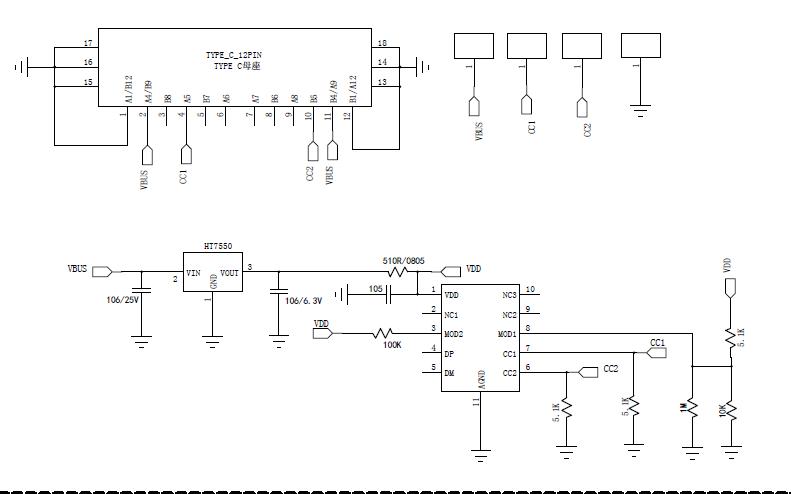 XSP05 PD协议取电芯片原理图免费下载