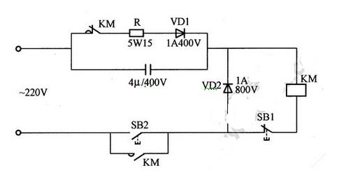 交流接触器无声运行电路