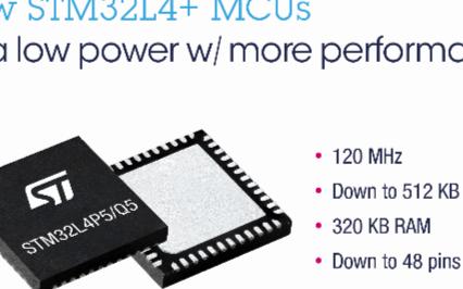 意法半导体面向嵌入式应用而推出了STM32L4 +微控制器