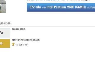 英特尔奔腾MMX处理器获超频新冠军,达到372MHz