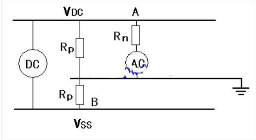 直流体系沟通窜电的的检查原理