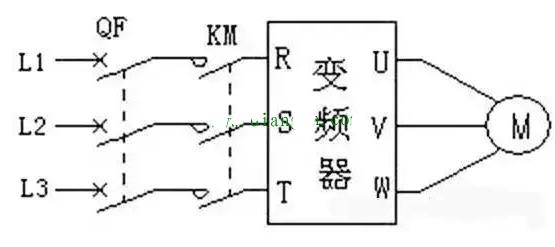变频器外接主电路原理图