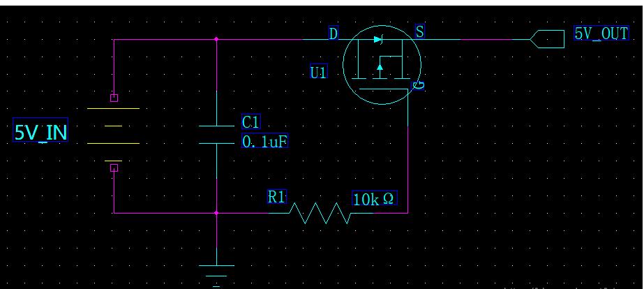 基于PMOS管的电源防反接电路及原理分析