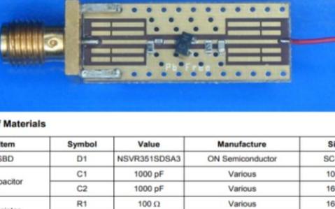 肖特基二极管功率检测电路电压的原理分析