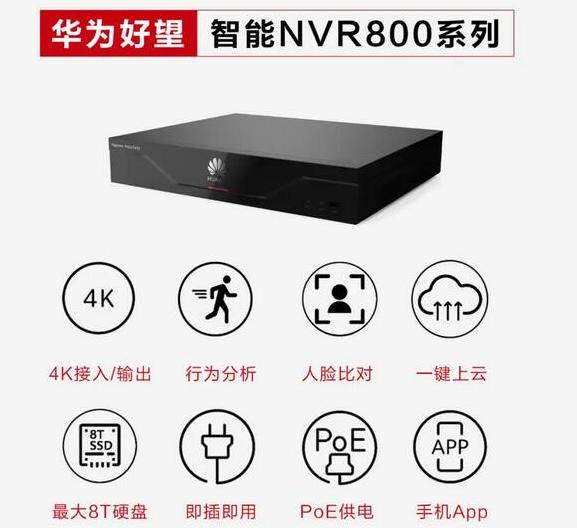 華(hua)為推(tui)出了智能安防NVR800系列xie)泛徒jie)決方案
