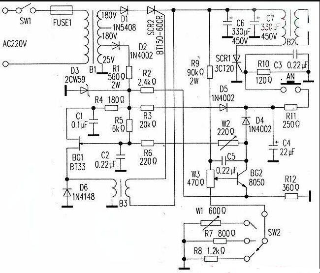 一款实用的点焊机电路图
