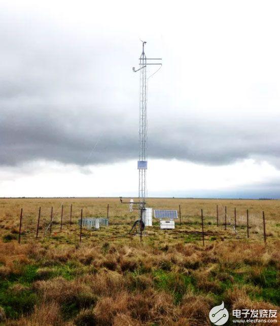 气象站监测不同土壤和植物类型的天气和状况