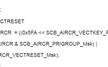 CM3(STM32) 內核復位與系統復位區別及應用