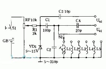 高频正弦波发生器电路图