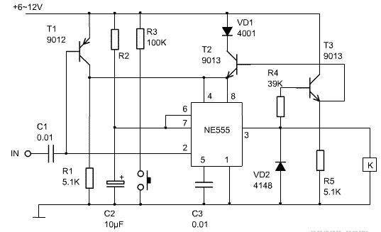 两款微功耗定时器电路图详解