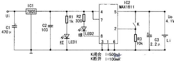 MAX1811应用电路图