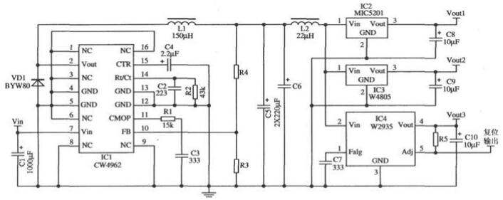 CW4962應用電路圖