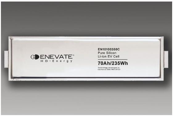 Enevate硅阳极电池助力电动汽车快速充电