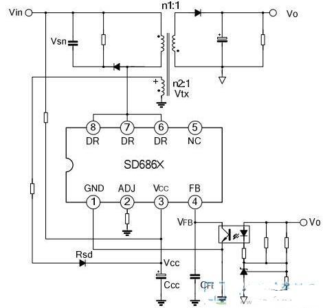 SD6863典型应用电路图