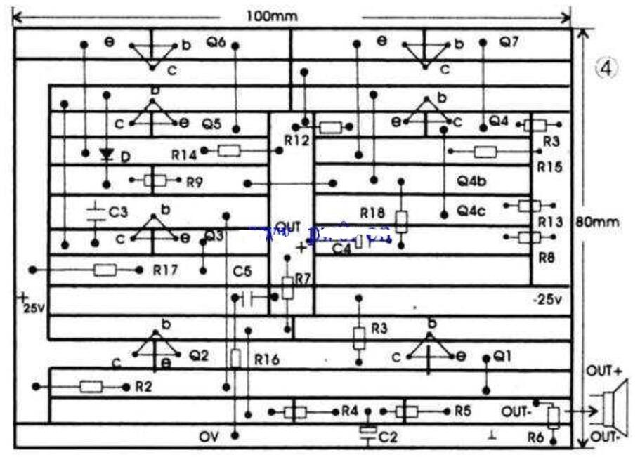 简易的功放音响电路图