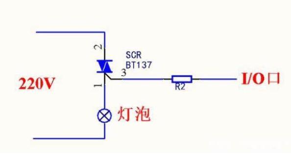 使用可控硅三极管MOS管的单片机控制220V交流电通断电路图解