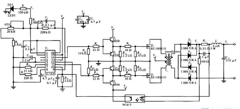 四款sg3525典型應用電路圖