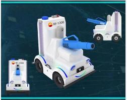 中油瑞飞研发出了智能消毒杀菌机器人