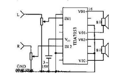 三款TDA7053功放電路圖詳解