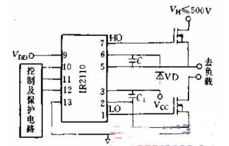 IR2110典型应用电路及连接图