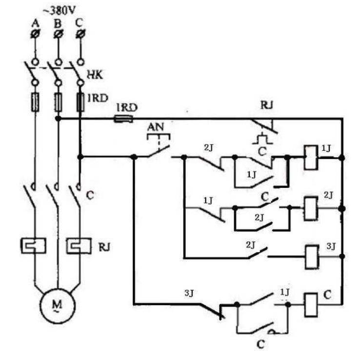 按钮操控电动机起停线路原理